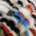 Buntes Pelz Wollgewebe für Damenmantel