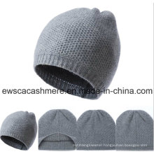 Men′s Solid Color Top Grade Pure Cashmere Hat A16mA1-001