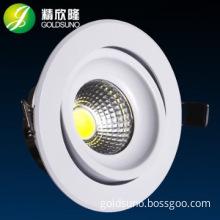 cutout 75mm 3w adjustable cob ceiling light pure aluminum material