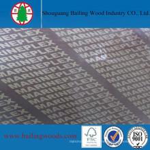 12mm Venta caliente Película Frente a la madera contrachapada
