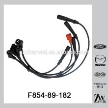 Auto peças elétricas cabo de ignição conjunto fio de vela de ignição para Mazda B2000 FE OE.F854-89-182