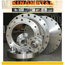 Bride en acier inoxydable duplex de grand diamètre ASTM A182 F51 / 53