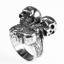 Sterling skull stainless steel ring women
