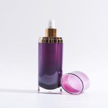 120ml garrafa de loção de plástico acrílico oval (EF-L180120)