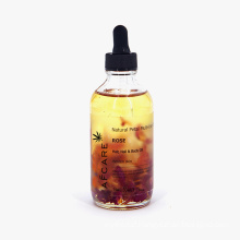 Private Label Pure and Natural Essential Oil Rose Petal Multi Use Oil for Face Body and Hair Aromatherapy