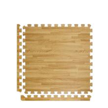 Eco friendly anti-fatigue interlocking floor foam wood trim eva  bathroom mat