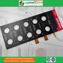 BINAR-omvandlaren FPC Circuit Al Backer Membrane Switch
