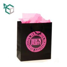 Großhandelsminifertigkeits-recyclebares Mode-Papier-kundenspezifische Geschenk-Taschen mit Griff