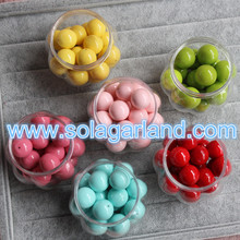 18MM Acrylic Round Half Drilled Beads Spacer Opaque Round Beads Charms