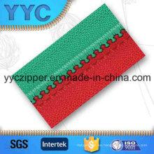 # 5 doble color de cadena larga cremallera de plástico para las prendas de vestir