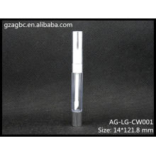 Transparent&Empty Plastic Round Lip Gloss Tube AG-LG-CW001, AGPM Cosmetic Packaging , Custom Colors/Logo