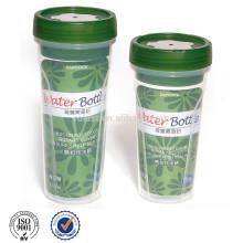 BPA libera la botella de agua potable de plástico transparente 600ML