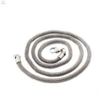 Nuevo modelo de collar cadena a granel cadena de cadena plateada plata cadenas de joyería
