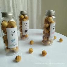 scented wooden balls in PET bottle
