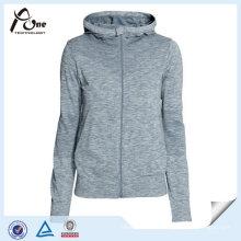 Polyester Sports Wear Women Full Zipper Sports Jacket