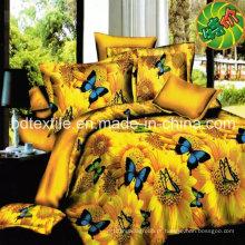 Tecido popular de 100% poliéster microfibra para Home Textile