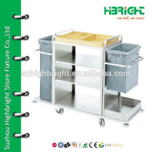hotel cleaning trolley cart