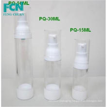 15ml 30 ml small plastic airless bottle cosmetic bottle clear round