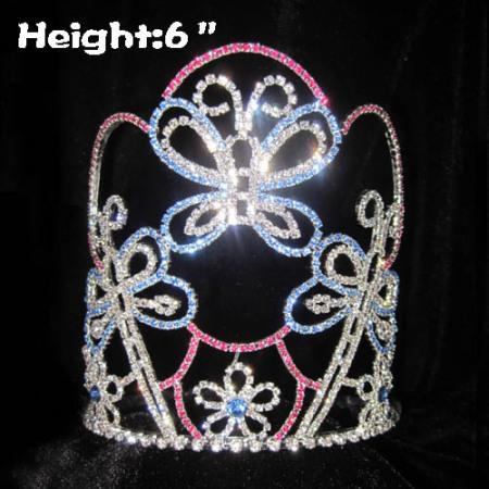 Coroas da mola do concurso de borboleta de cristal da altura 6in