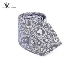 Neue Art-dünne Hals-Krawatte Günstige bedruckte Seide Krawatte