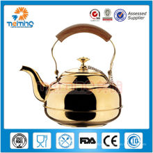 stainless steel gold water kettle with filter
