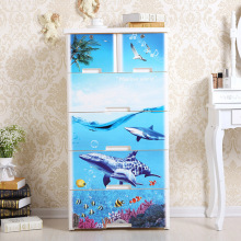 Sea World Printed Plastic Storage Schubladenschrank (Na-5839)