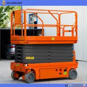 Elevador de tesoura hidráulico auto-propulsionado para trabalhos aéreos