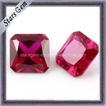 Forme carrée Asscher Cut Pigeon Blood 5 # Ruby