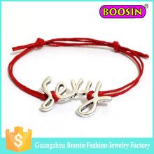 Pulseira de couro Fasihon Infinity com logotipo personalizado Lucky Sexy Charm Bracelet