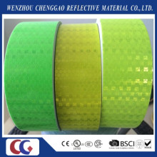 Clear Fluorescent Yellow Reflective Sticker with Lattice Crystal