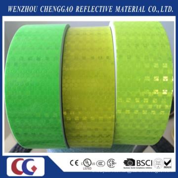 Klarer fluoreszierender gelber reflektierender Aufkleber mit Gitter-Kristall