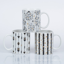 2021 hot selling 11oz standard mugs  with gold printing