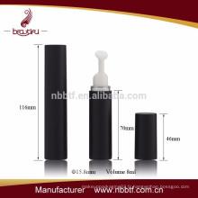 Bouteille de bouteille d'oeil vide en plastique noir vide 10 ml avec pompe