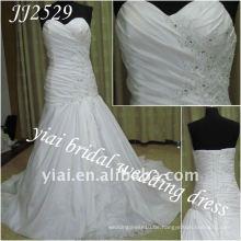 JJ2529 Freies Verschiffen A-line Art Schatz-Taft-Hochzeitskleid