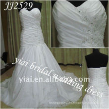 JJ2529 Vestido de boda libre del tafetán del amor del estilo del A-line del envío