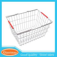 compras de hierro plegable plegable cesta de alambre de metal