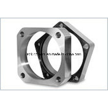 Pn40 Forged Carbon Steel Square Flange Ele Galv