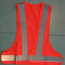 Polyester-Fahrbahn-Sicherheitsweste mit reflektierendem Streifen