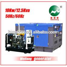 10KW silencieux générateur alimenté par Weifang 2100D