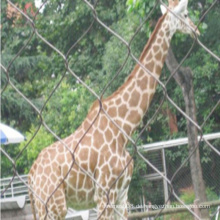 Zoo-Edelstahl-Seil-Maschen-Zaun / Ss-Flex gesponnene Masche