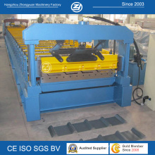 Metall-Dachplatten-Umformmaschine mit hydraulischem Schneiden
