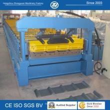 Metalldachplatte-Rolle, die Maschine mit hydraulischem Ausschnitt bildet