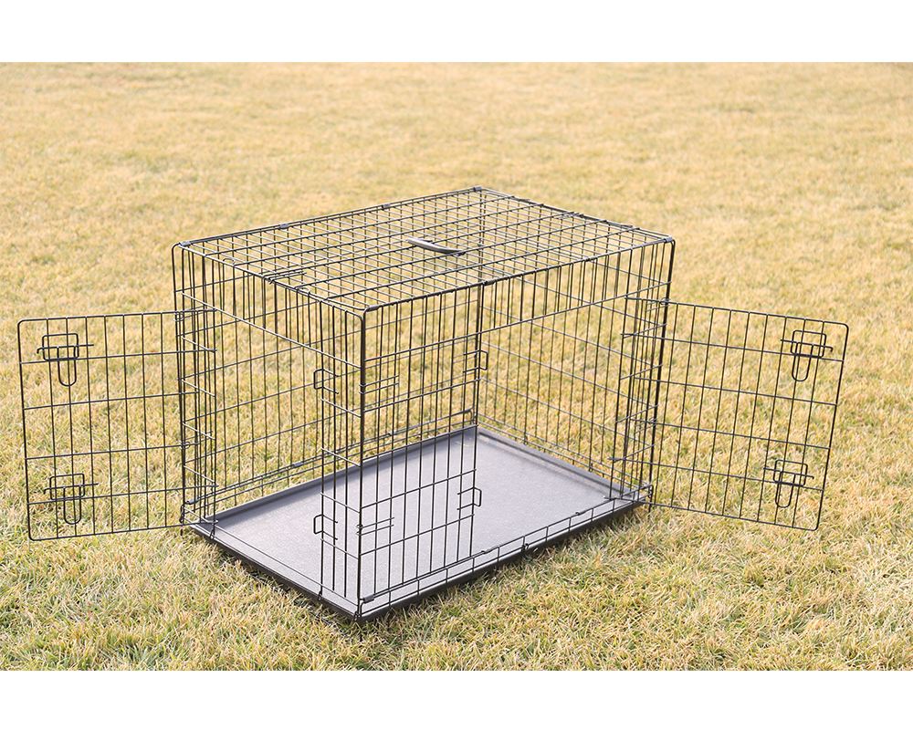 Double Door Black Dog Cage