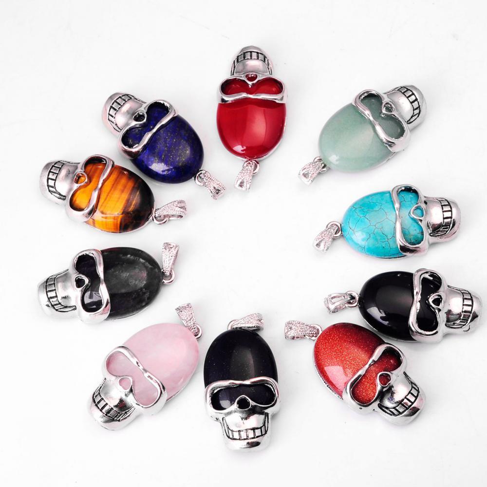 00SP0170 semi precious skull pendant