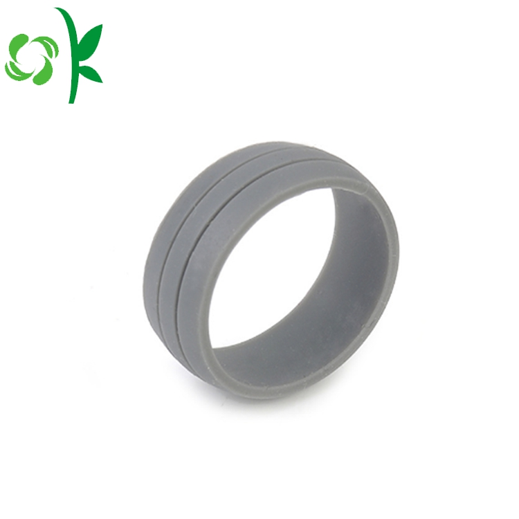 light grey silicone debossed ring