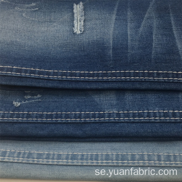 Vävd Garnfärgad Slub Denim Fabric Wholesale
