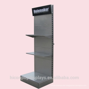Steigern Sie Ihre Marke Top Signage Tools Retail Freestanding Tall Perforated Blech Display Stand