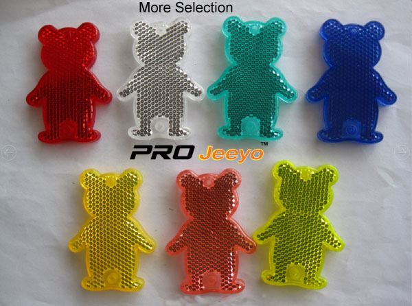 Reflective Safety Bear Children Bag Keychain RV-506 8