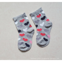 Cotton Baby Socks with Full Heart Design Body