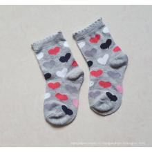 Хлопковые детские носки с полный сердце дизайн кузова